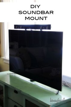 I love this idea for a DIY Soundbar Mount so the kids can't mess with it!