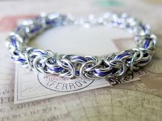 Purple Byzantine Chainmaille Bracelet by @AlycenMaille,
