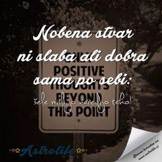 Misli pozitivno in podeli to objavo med svoje prijatelje!  P.S. Svež dnevni horoskop čaka nate na www.astrolife.si