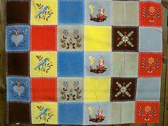 Vintage Wilendur Penn Dutch Tablecloth Folk Art by BlackRain4