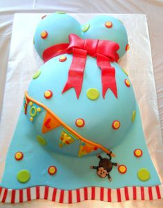 use vintage diaper stacker for baby shower | Baby Shower Cake - Carnival