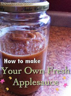 How to make fresh homemade applesauce.