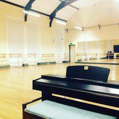 set up for @royalballetschool #auditions tomorrow at the @vhradstock - good luck everyone! #ballet #royalballet #borntodance