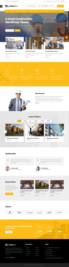 p download construction business website free psd template it was