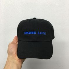 3e92460d815 more life dad hat black Drake Graham