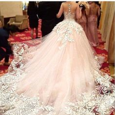 Pink tulle wedding gown with white embroidered overlay. Quince Dresses, 15 Dresses, Pretty Dresses, Bridal Dresses, Rose Gold Dresses, Rose Gold Quinceanera Dresses, Dream Wedding Dresses, Wedding Gowns, Rose Gold Wedding Dress