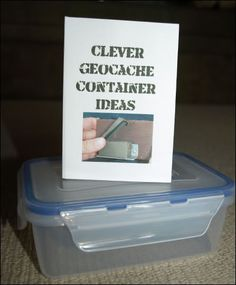 Some cleaver ways to create your own geocache