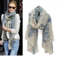 Women Long Print Scarf Wrap Ladies Shawl Girls Large Chiffon Scarves FASCF059 #shanghaimagicbox #Scarf