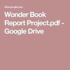 Wonder Book Report Project.pdf - Google Drive