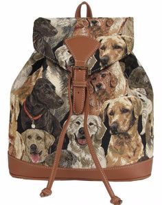 A turquoise blue backpack rucksack with a Dachshund Dog print ...
