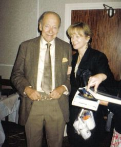 Winston Graham with Angharad Reese