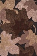 Hand-tufted in China of 100% polyester, this collection combines bold, over-scale design with a soft color palette. All designs are enhanced by a hand-carved finish around the edges of the pattern and a plush surface.