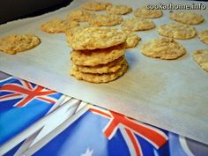 These Anzac biscuits are sweet and chewy using oats, coconut and golden syrup as the magical ingredient.