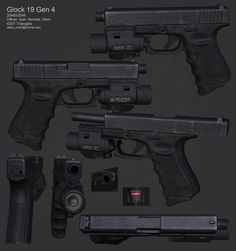 Polycount Forum - View Single Post - What Are You Working On? Glock 19 Gen 4, Glock Accessories, Personal Defense, Military Guns, Weapon Concept Art, Body Reference, Guys Be Like, Guns And Ammo, Firearms