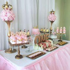 16 ideias para festa Princesas com muito dourado! - Guia Tudo Festa - Blog de Festas - dicas e ideias!