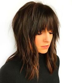 Hair and Makeup 60 Most Universal Modern Shag Haircut Solutions Maybe this is another hair style option. Medium Razored Shag for Straight Hair Modern Shag Haircut, Long Shag Haircut, Fringe Haircut, Medium Hair Cuts, Medium Hair Styles, Short Hair Cuts, Short Hair Styles, Medium Shag Haircuts, Shag Hairstyles