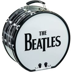 The Beatles Black and White Shaped Tin Tote 72170 (£9.24) ❤ liked on Polyvore featuring bags, handbags, tote bags, black and white handbags, white and black handbags, tote hand bags, black and white tote handbags and tote purses