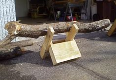 Homemade Sawbuck for Cutting Firewood
