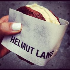 FNO 2012. HELMUT LANG BRANDED BLACK & WHITE ICE CREAM SANDWICHES BY COOLHAUS.