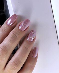 Nail Shapes - My Cool Nail Designs Classy Nails, Stylish Nails, Trendy Nails, Rose Nails, Gel Nails, Acrylic Nails, Pretty Nail Colors, Pretty Nail Art, Pink Nail Art