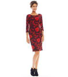 """robe fourreau antonella """"érable"""" noir/rouge - Robes - Femme - Prêt-à-Porter •…"""