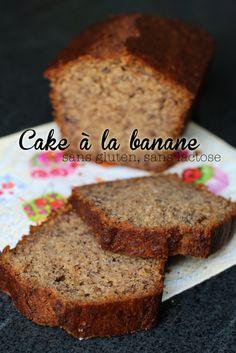 Cake à la banane sans gluten, sans lactose