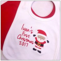 This item is unavailable Babies First Christmas, 1st Christmas, New Baby Gifts, Girl Gifts, Personalized Toddler Backpack, Personalised Baby, Stocking Fillers, 1st Birthdays, Baby Bibs