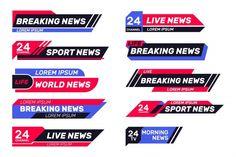 Fake news live over curvy violet background | Free Vector Banners, Web Banner, Banner Template, Design Azul, Tv, Lower Thirds, Photoshop Design, Banner Design, Sport