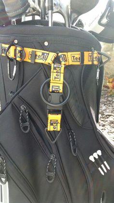 Yellow Teecil Snap-Hookz Golf Accessory Hanger