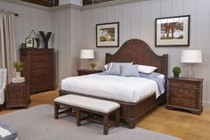 This bedroom is country traditional.