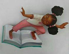 Book Surfing by Frank Morrison para fazer em biblioteca Black Girl Art, Black Women Art, Art Girl, Natural Hair Art, Pelo Natural, African American Art, African Art, Black Is Beautiful, Beautiful Artwork
