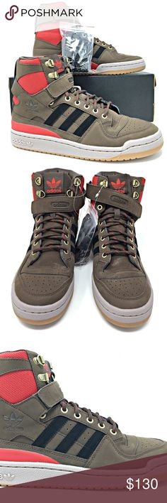 low priced 76f55 eab09 Adidas Forum HI OG Suede Brown High Top Size 9 NEW Adidas Forum HI OG Suede