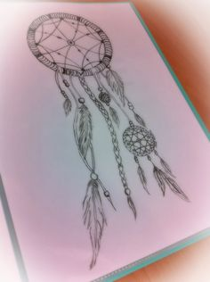 Dream catcher drawing, © by Yvonne Nieuwenhuis