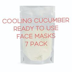 Cooling Cucumber Aloe Facial Mask, Facial Care, Skin Spa Treatment Masks, Bath