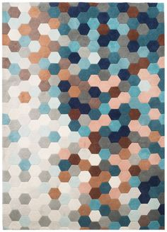 'URBN Petrol Blue Kaleidoscope Rug by MODLOFT. @2Modern'