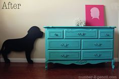 Turquoise dresser with chalk paint - Google Search