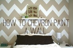 DIY chevron Paint a Wall DIY Wall Accent  Someday I will have an awesome chevron wall!