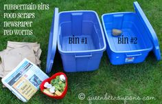 Worm compost bin in 10 easy steps! With video tutorial from my 4-yr-old son –…