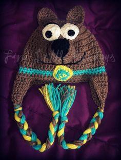 so cute if kessey had this Crochet Kids Hats, Love Crochet, Crochet Crafts, Crochet Yarn, Crochet Projects, Crocheted Hats, Beanie Pattern Free, Crochet Beanie Pattern, Crochet Patterns
