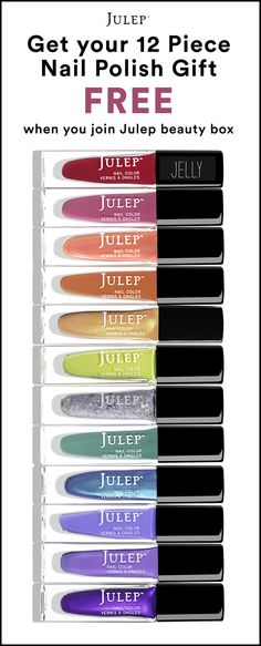 @RUULALA Sign up for the Julep Beauty Box now and get our best-selling 12-pc polish set ($168 value) ON US + Free shipping. Hurry! Offer ends 5/15.