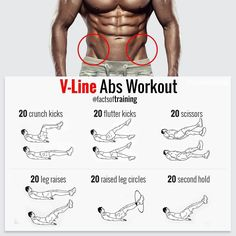 V-Line ABS workout! crunch kicks flutter kicks scissors leg reises raised leg circles second hold Do it all this exercise on above pics, everyday for maximum effect ! Related posts:A perfect starter workout for weight loss!Exercise: One-arm towel rowExerc Fitness Workouts, Abs Workout Routines, Weight Training Workouts, Gym Workout Tips, Ab Workout At Home, Workout Videos, At Home Workouts, Fitness Tips, Fitness Motivation