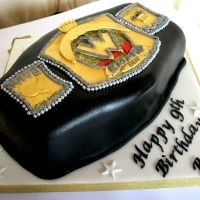 wwe cake :) IF YOU SMELL WHAT THE ROCK IS BAKING!!!