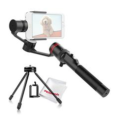 MOZA MINIC Handheld 3Axis Phone Gimbal Stabilizer for iPhone 77 6S6S Samsung Galaxy HTCMini Desktop Iron Tripod with 14 Screw  Lightwish * Want to know more, click on the image. Note: It's an affiliate link to Amazon