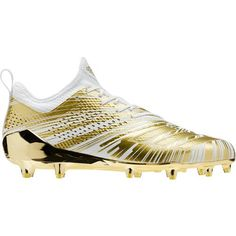 b77c7e309ff Adidas Men s Adizero 5-Star 7.0 Metallic Football Cleats (Gold