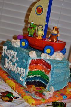 Wonder Pet Birthday Cake! Second Birthday Ideas, 3rd Birthday, Boy Birthday Parties, Birthday Wishes, Wonder Pets, Cake Rainbow, Party Themes, Party Ideas, Animal Birthday