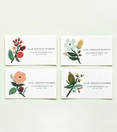 calling cards. another beautiful set from rifle paper co.