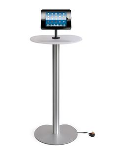 iPad Podium Stand with White Acrylic Table Top