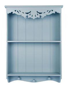 Pretty Light Seaside Blue shabby / chic Carved Shelf / Shelving unit WALL UNIT