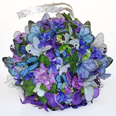 Spring Butterflies are here! The perfect Kissing Ball for weddings, spring decor or a gift.
