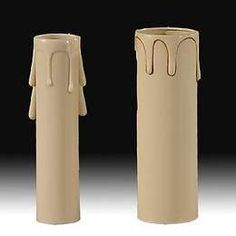 Beige Plastic Candle Covers with Drips